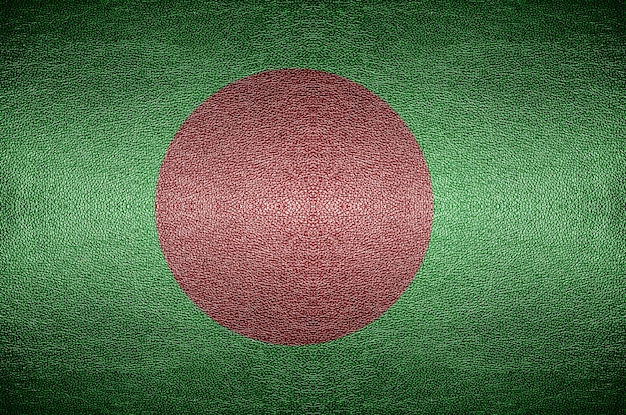 Concept de drapeau bangladesh écran sur cuir pvc pour le fond