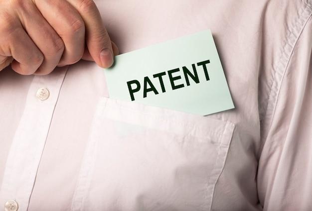 Concept de droit d'auteur d'entreprise de mot de brevet et de droits protégés