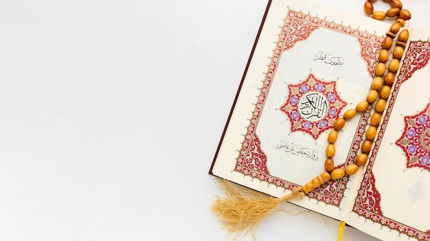 Concept du nouvel an islamique avec espace copie