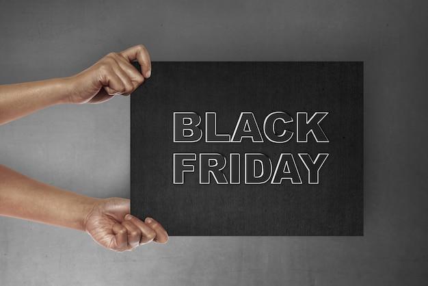 Concept du vendredi noir