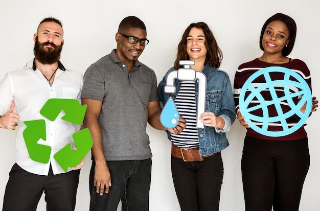 Concept de durabilité du groupe de personnes