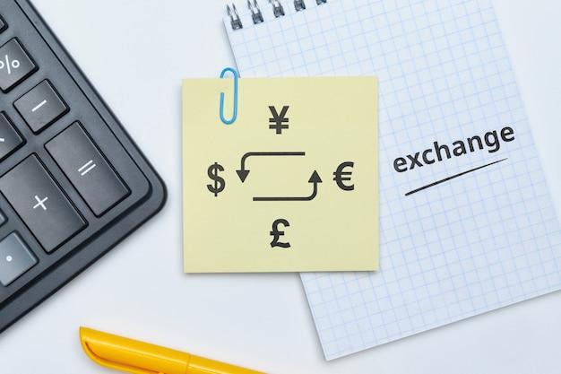 Concept d'échange de devises et calcul du résultat obtenu.