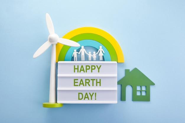 Concept d'écologie verte de jour de la terre. monde respectueux de l'environnement. joyeux jour de la terre. concept d'amour. contexte écologique.
