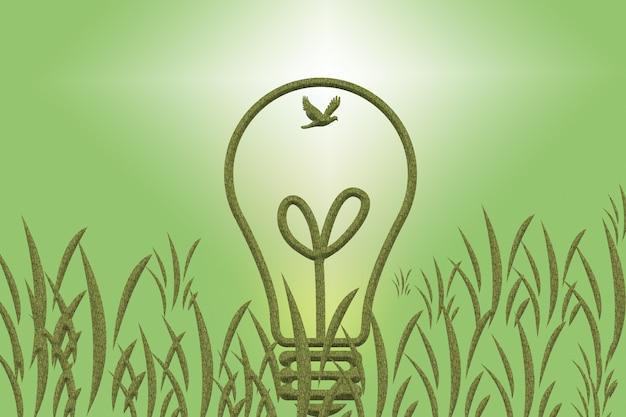 Le concept d'économie et de production d'électricité, protégeant la terre.
