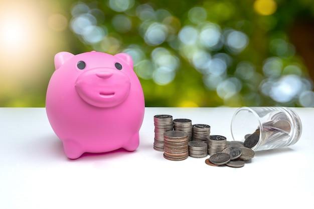Concept d'économiser de l'argent
