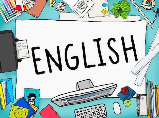 Concept d'éducation linguistique anglais angleterre britannique