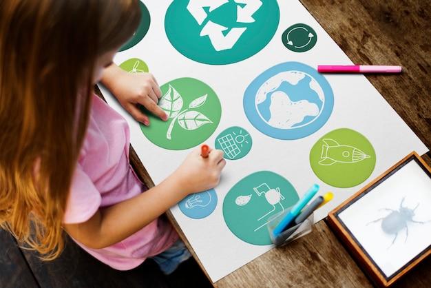 Concept d'éducation pour les enfants et l'environnement