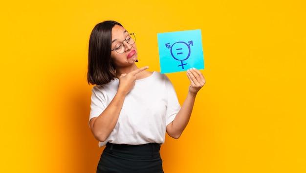 Concept d'égalité des jeunes femmes pré
