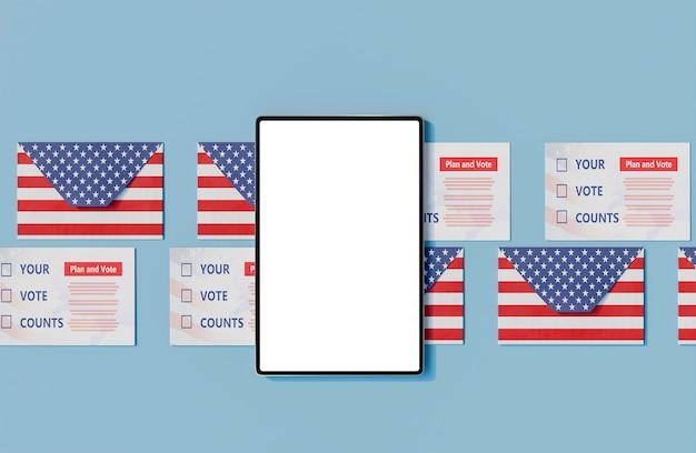 Concept d'élections américaines avec espace de copie