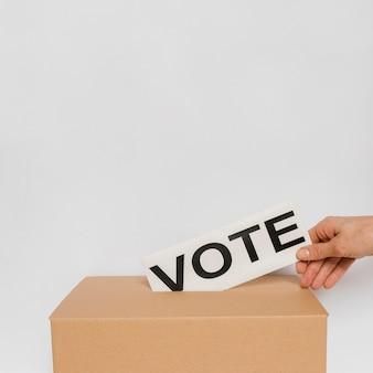 Concept des élections avec espace copie