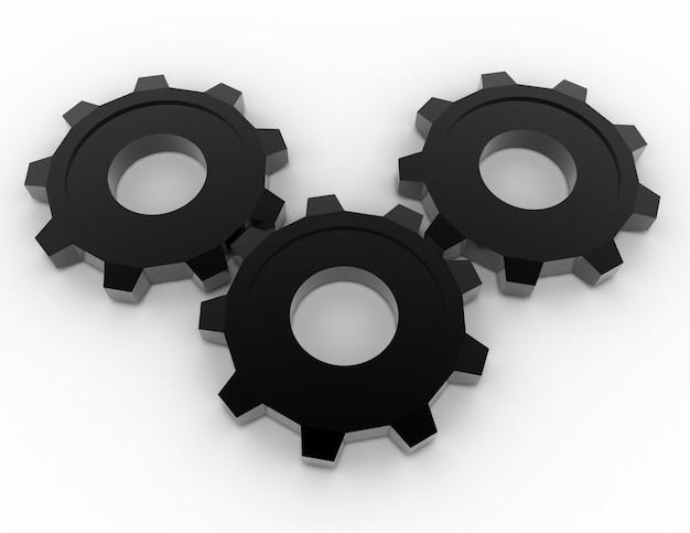 Concept d'engrenages 3d