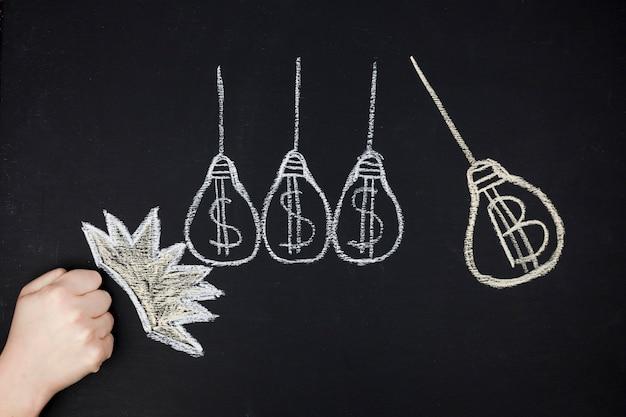 Concept d'entreprise avec ampoule
