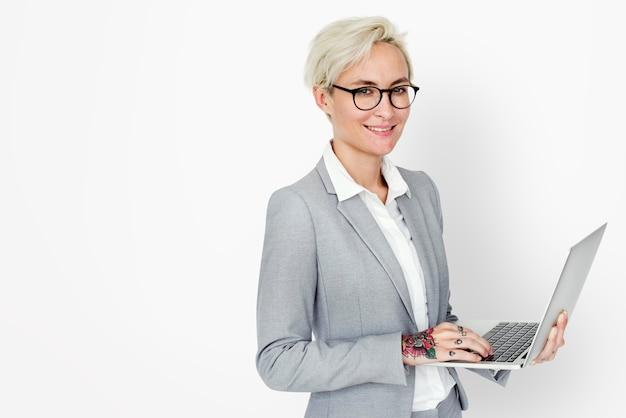 Concept d'entreprise entrepreneur professionnel de femme d'affaires