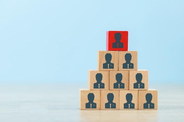 Concept d'entreprise de gestion et de recrutement des ressources humaines.