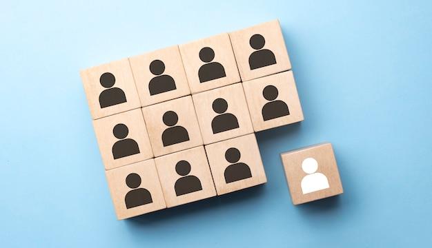 Concept d'entreprise de gestion des ressources humaines et de recrutement, espace de copie