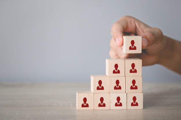 Concept d'entreprise de gestion des ressources humaines et de recrutement, stratégie commerciale pour réussir