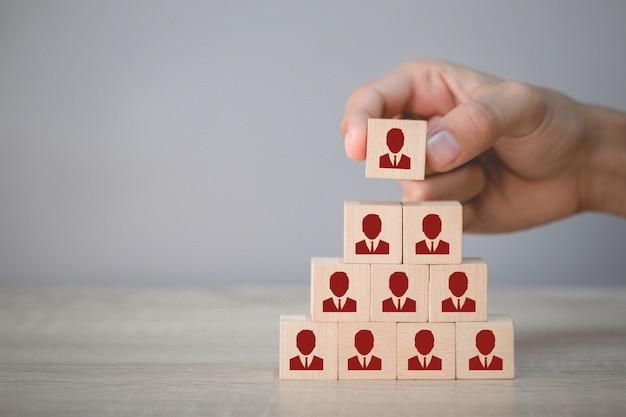 Concept d'entreprise de gestion des ressources humaines et de recrutement, stratégie d'entreprise pour réussir dans les pratiques commerciales très actives d'aujourd'hui