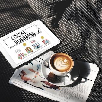 Concept d'entreprise de marketing de stratégie de petite entreprise