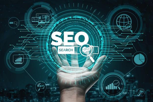 Concept d'entreprise d'optimisation de moteur de recherche seo