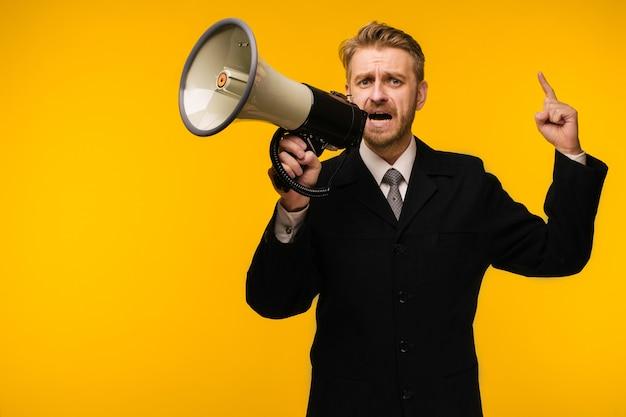 Concept d'entreprise, de personnes, de communication et d'annonce publique
