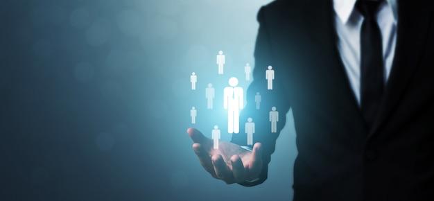 Concept d'entreprise ressources humaines, gestion des talents et recrutement