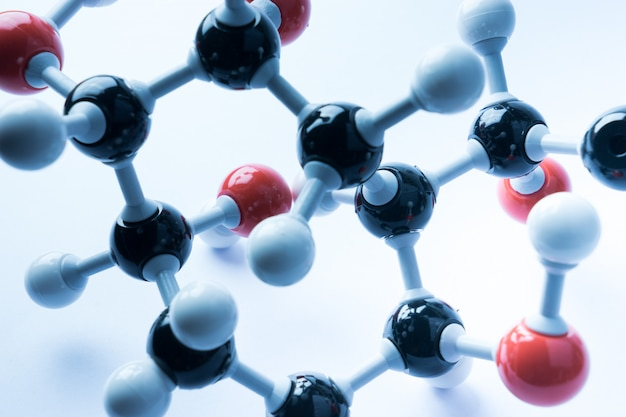 Concept d'entreprise science molecular model model structure