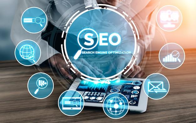 Concept d'entreprise seo search engine optimization