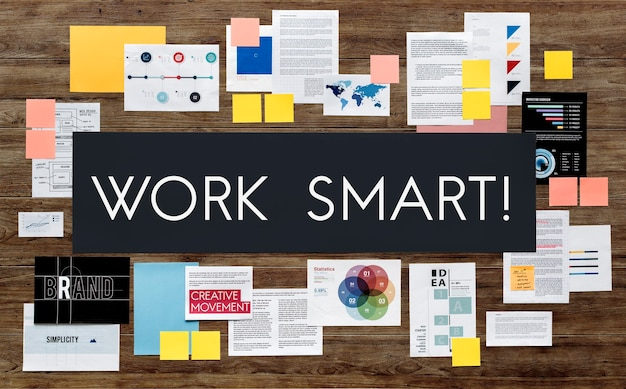 Concept d'entreprise de stratégie de marketing de document