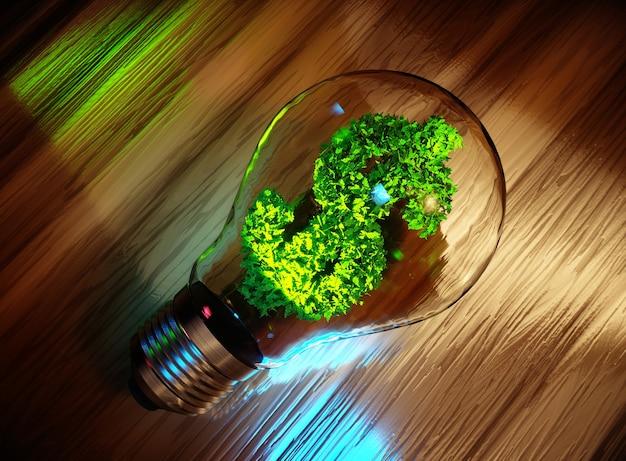 Concept d'entreprise verte. rendu 3d.