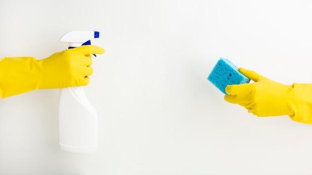 Concept d'entretien ménager avec espace de copie