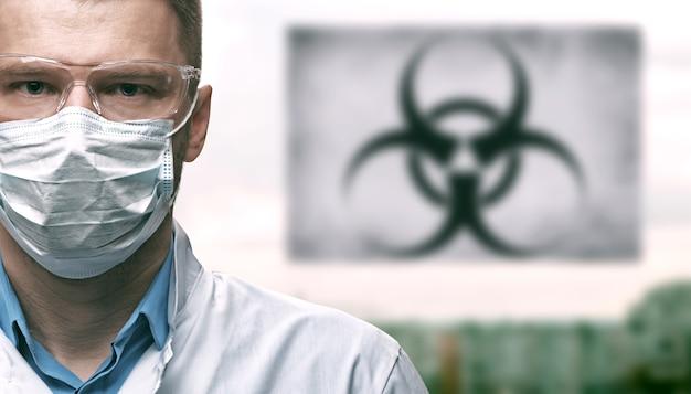 Concept d'épidémie de virus corona. syndrome respiratoire à virus épidémique.