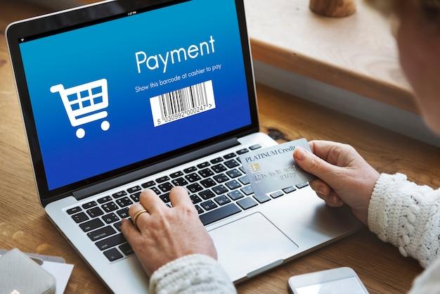 Concept d'escompte de commande d'achat de paiement