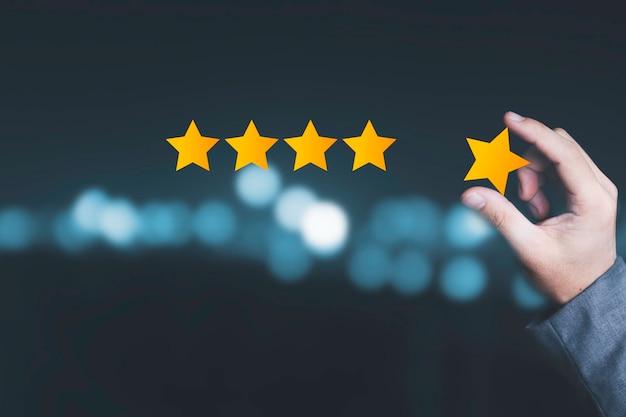 Concept d'évaluation de la satisfaction client et du service produit