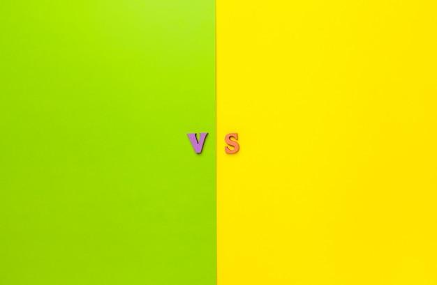 Le concept de faire des choix. versus lettres.