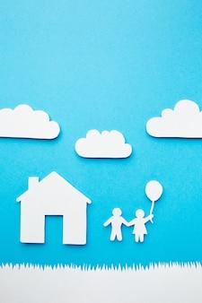 Concept de famille de papier artistique