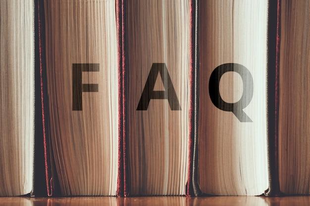 Concept faq sur les principaux problèmes liés à l'histoire et à la bibliothèque.