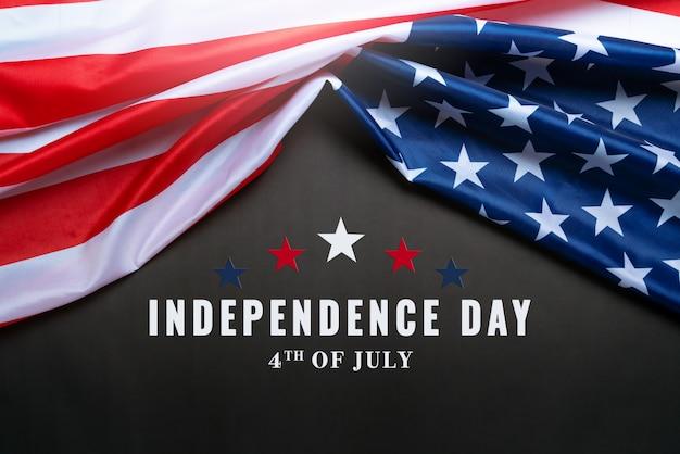 Concept de la fête de l'indépendance des états-unis le 4 juillet, drapeau des états-unis d'amérique