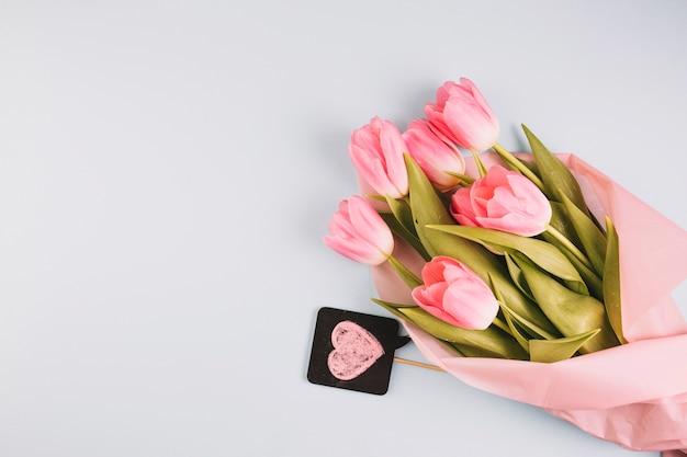 Concept de fête des mères avec de belles roses