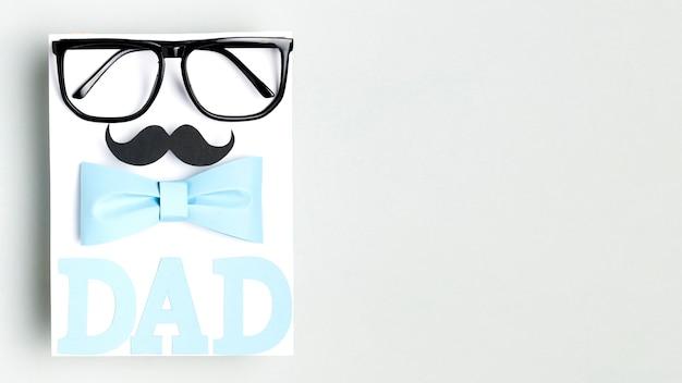 Concept de fête des pères avec espace copie