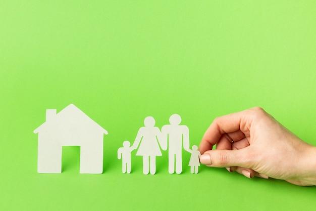 Concept de figure de famille gros plan