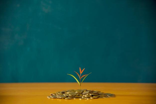 Concept financier familial avec fond