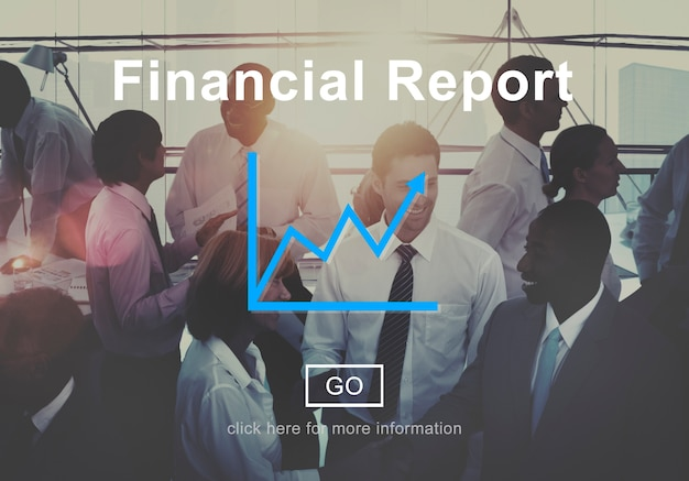 Concept financier rapport financier en ligne concept