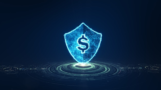 Concept fintech. technologie financière et monnaie numérique.