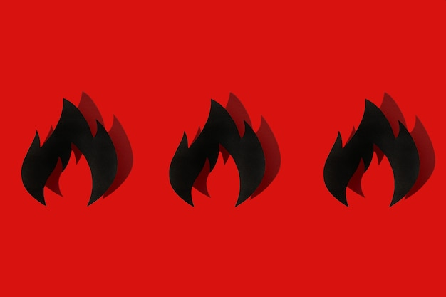 Concept firefighters day la journée internationale importante du feu. ombre
