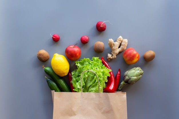 Concept de flay de nourriture saine et biologique