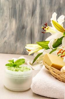 Concept de fleur spa santé et beauté