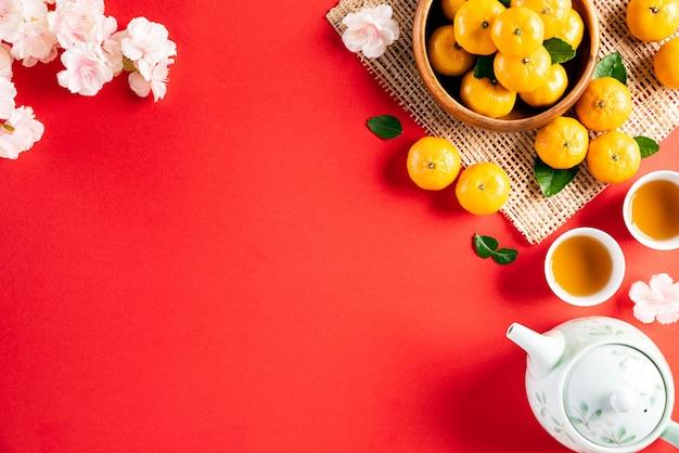 Concept de fond de décorations de festival du nouvel an chinois
