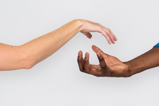 Concept de fond humain bras bras