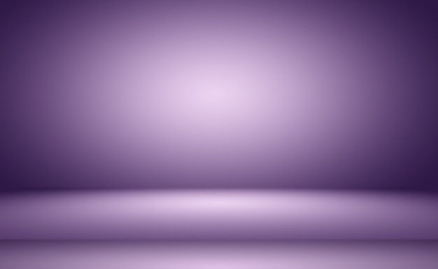 Concept de fond de studio abstrait vide dégradé violet clair fond de salle de studio pour produit p...