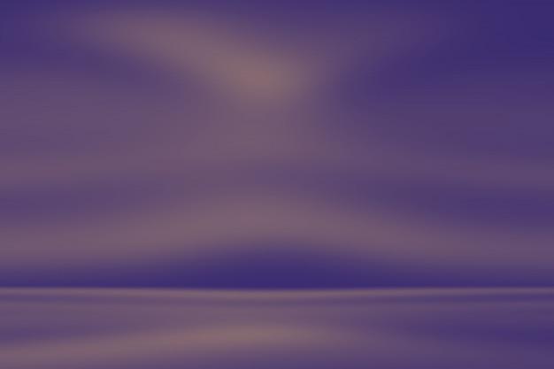 Concept de fond de studio - fond de chambre studio violet dégradé de lumière vide abstrait pour le produit.